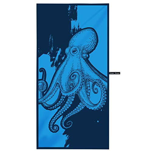 OCOOPA Asciugamano da Spiaggia in Microfibra – Extra Large, XL (85x180cm) Asciugatura...