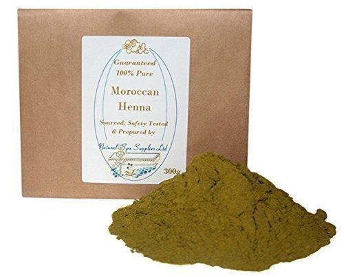 Polvere di henné marocchino per capelli 300 g, tinta naturale, 100% puro e naturale. Senza additivi. Copre i capelli bianchi.