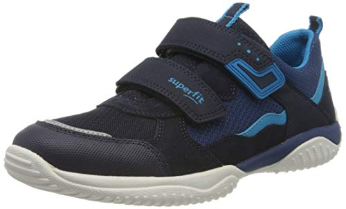 Superfit Jungen STORM Sneaker, Blau 80, 32 EU