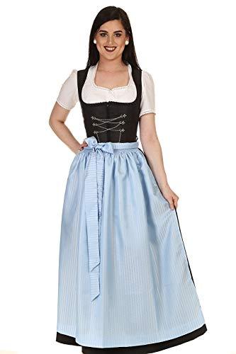 Hammerschmid Damen Schürze Dirndlschürze festlich geblümt 1912706 hellblau Gr.1=34-38