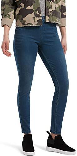 HUE Women s Ultra Soft High Waist Denim Leggings Steely Blue Wash Large product image