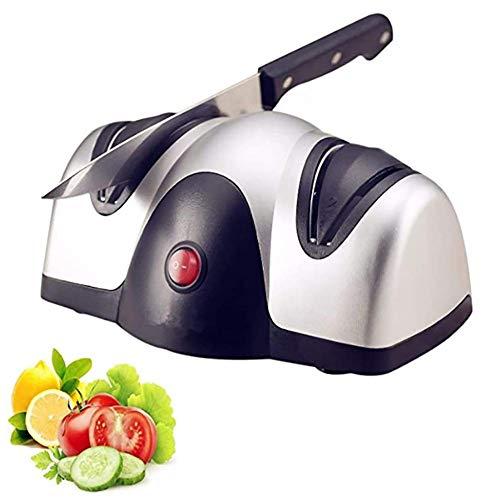 Moter Profesional afilador de Cuchillos eléctrico, el Mejor Afilado y Bien Sistema de Afilado de Nivel 2 para Cuchillos de Cocina [A] de energía
