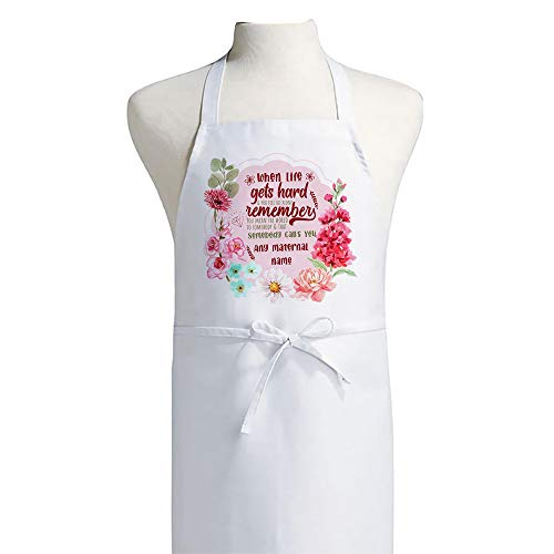 Personalised You mean the world to Somebody that Calls You Grandma Nana Nanny ANY NAME Mothers day Birthday Gift Kitchen Apron.