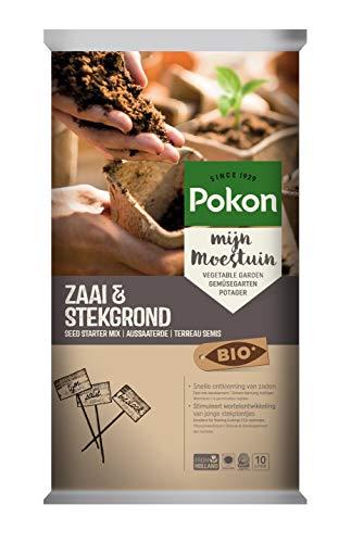 Pokon Bio Start-Aussaaterde, zur Aussaat und Vermehrungen von Stecklingen mit 60 Tage Dünger, Kultursubstrat, 10 Liter