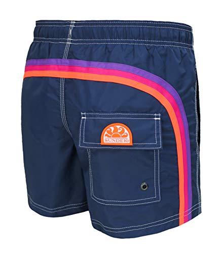 Sundek Costume Uomo Original - BS/RB - Elastic Waist 14' 552 Navy Pantaloncino Shorts Mare (XS, Blu Navy #26)