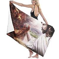 悪魔と神 バスタオル ビーチタオル ビーチマット 柔らか シャワー タオル 吸水 速乾 水泳 タオル 特大きい