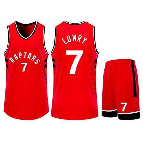Z/A Colina Toronto Raptors Kyle Lowry # 7 Traje Ropa De Baloncesto Hombres Camiseta De Deporte Entrenar Ropa para Aficionados Niños Y Adultos Traje Chaleco Pantalones Cortos,4XL