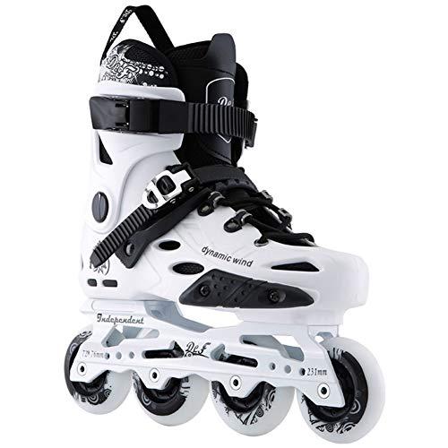 Wwwly Adult Outdoor Fitness Inline Skates for Beginner Boys/Girls, Pro Speed Roller Skates,White,39EU