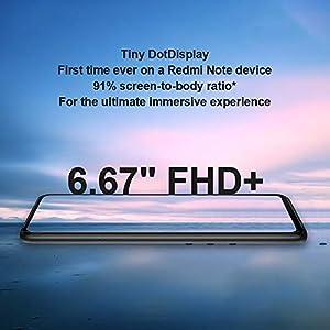 "Xiaomi Redmi Note 9S Teléfono 6GB RAM + 128GB ROM, 6,67"" Pantalla Completa, Boca de Dragón 720G Procesador Octa-Core, 16MP Frontal y 48MP + 8MP + 5MP + 2MP AI Quad Cámara Versión Global (Gris)"