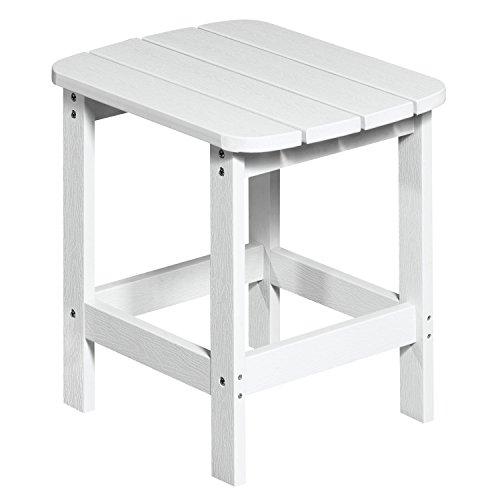 NEG Design Adirondack Tisch Marcy (weiß) Westport-Table/Beistelltisch aus Polywood-Kunststoff (Holzoptik, wetterfest, UV- und farbbeständig)