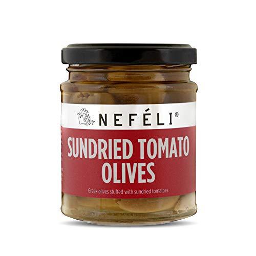 Nefeli - Aceitunas de tomates secas al sol, 185 g (paquete de 6)