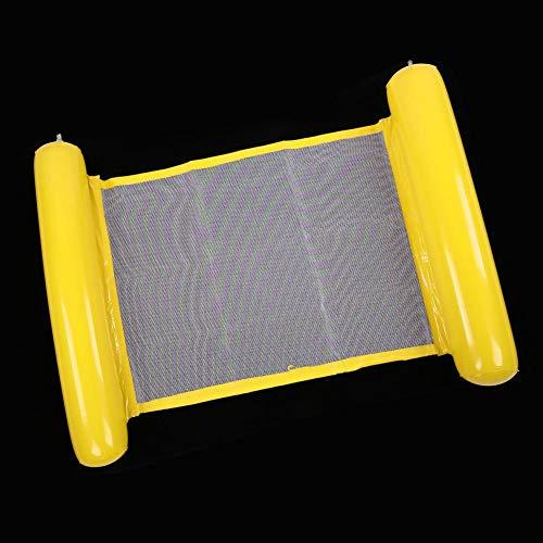 Redxiao 【𝐁𝐥𝐚𝐜𝐤 𝐅𝐫𝐢𝐝𝐚𝒚】 Anillo de natación de Hamaca más Grande de 130x70 cm, Cama Flotante de Piscina Inflable Engrosada, Cama Flotante de Foto de Silla de Playa Inflable,(Yellow)