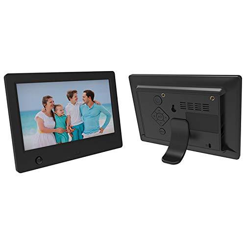 WQYRLJ 7 inch HD digitale fotolijst, elektronische fotolijst 1024X600 resolutie 16:9 breedbeeld en 32 GB online opslag/foto/video/afstandsbediening ondersteuning SD-kaart, USB
