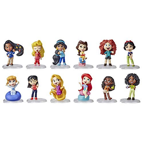 Disney Princess Comics Minis Comfy Squad Collection Pack, 12 Dolls Collectable Toy for Girls 3 Years and Up