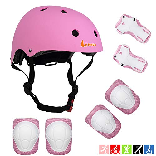 Lanova Toddler Helmet Kids Knee Pads for 3-8 Years Toddler Youth Bike Skateboard Helmet Knee...
