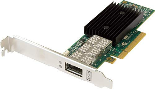 New ATTO FastFrame NQ41 QSFP Optical Interface Single Port 40GbE PCIe 3.0 Network Adapter ( includes...