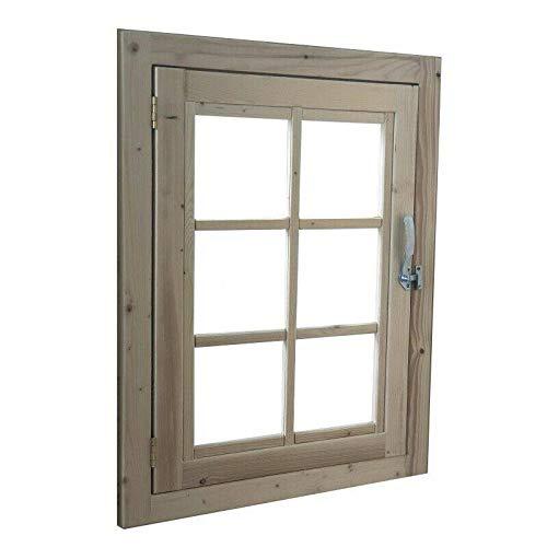 Home Idea Italia, Finestra in legno per casetta (61 x 81 cm)