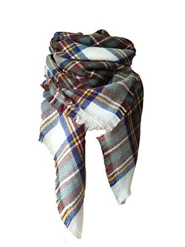 Bufandas Mujer Invierno Grib Grande Chal Cálido Moda Bufand