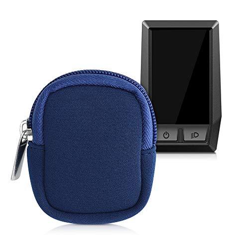 kwmobile Tasche kompatibel mit Bosch Kiox - E-Bike Computer Neopren Hülle - Schutztasche Dunkelblau