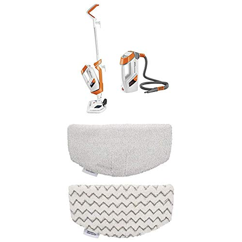 Long Lasting Performance Bundle - Bissell 1544A PowerFresh Lift-Off Pet Steam Mop + BISSELL PowerFresh Steam Mop Pads (2 pk) with Fragrance discs (4 ct)