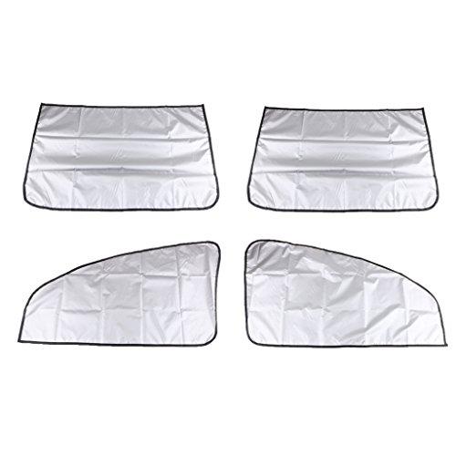 SDENSHI 2 cortinas protectoras para pantallas de sol magnéticas para cristales laterales oblicuos para coche