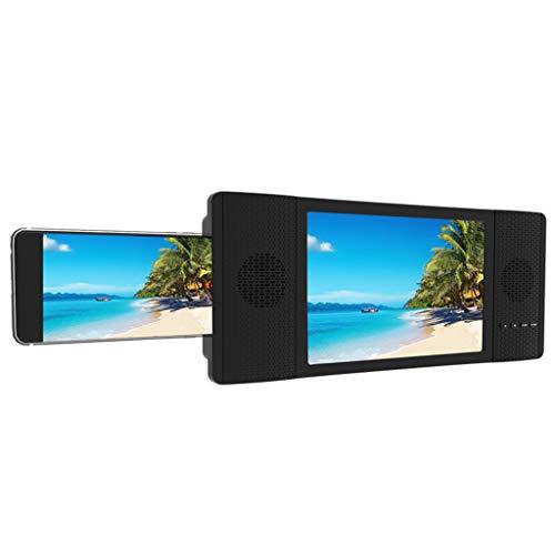 TQAME 8 inch beeldschermvergrootglas met audio-luidspreker voor smartphone, intrekbare 3D-smartphone, HD-beeldschermvergrootter, FM-radio-videoprojector-versterker