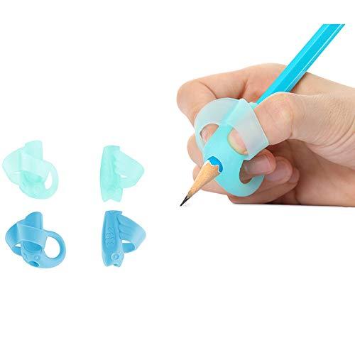 鉛筆もちかた 矯正 鉛筆持ち方 鉛筆グリップ 握り方矯正 子供用 ペンを正しく保持する (4個)
