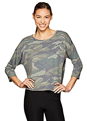 RBX Active Women's Camo 3/4 Sleeve Sweatshirt