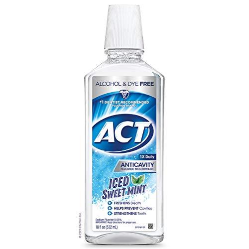 ACT Anticity 零酒精氟化物漱口水--冰甜薄荷