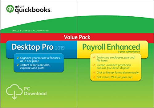 QuickBooks Desktop Pro 2019 with Enhanced Payroll [PC Download][Old Version]