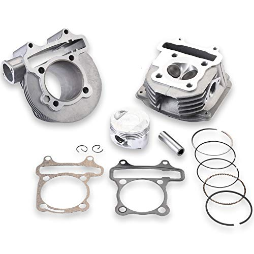 CLEO GY6 180cc Cylinder Head Kit Assy 61mm Big Bore with 69mm Valves for 152QMI 157QMJ Scooter Moped ATV Go Kart Quad