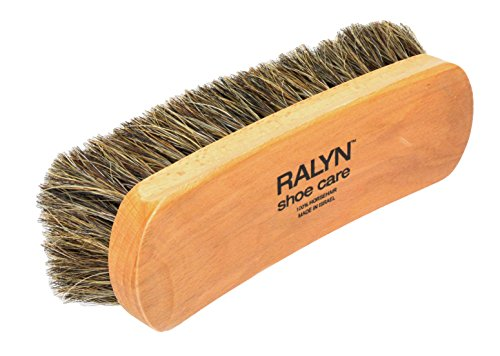 Ralyn Professional Shine Brush. For Boots and Shoes Brush Buffer Dark Bristles, 8