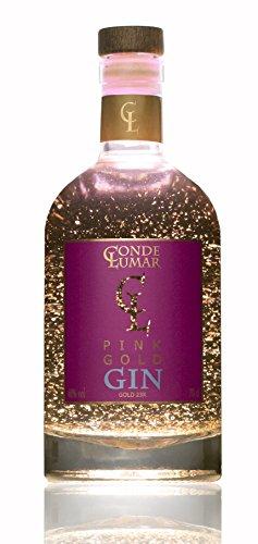3. Conde Lumar Pink Gold Gin - Ginebra rosa con oro