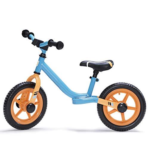 YumEIGE wielen wielen 12 inch, verstelbaar stuur, zitting, loopfiets 135 ° besturing, balansfiets Eva-banden, 3 kleuren hemelsblauw