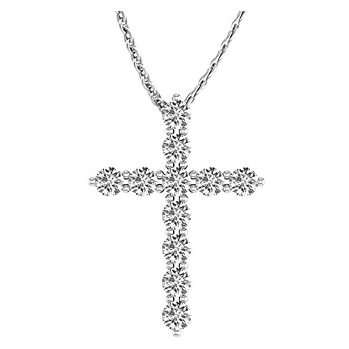2 Carat Total Weight 14K White Gold Diamond Cross Value Collection
