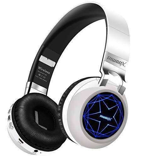Riwbox WT-8S Bluetooth Headphones, LED Light Up...