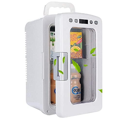 GJHK Mini Nevera, 12 L Refrigeración portátil Bebida Cerveza Frigorífico Calienta Pequeño refrigerador Adecuado para el Coche Dorm Office-White
