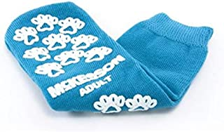 Mckesson Terries Slipper Socks Adult Large Teal Above The Ankle