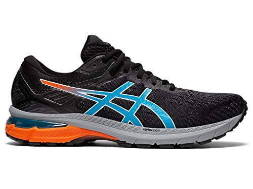 ASICS Men's GT-2000 9 Trail Running Shoes, 12M, Black/Digital Aqua