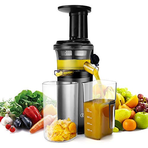 Slow Masticating Juicer with Slow Press Masticating Squeezer Technology for Fruits Vegetables and Herbs Slow Juicer with Compact Design and easy to clean 150 Watt