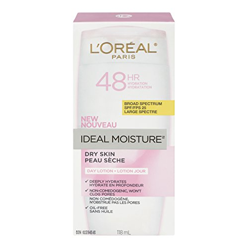 L'Oreal Paris Ideal Moisture Facial Day Lotion SPF 25, Dry Skin