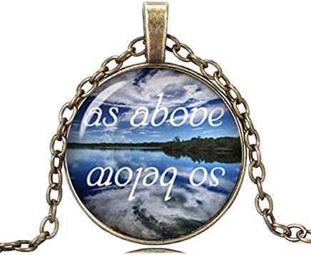 As Above So Below Necklace Lake Necklace Pendant Occult Jewelry for Men and Women