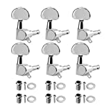 YXGOOD 6Pcs Guitar Locking Tuners String Tuning Pegs Keys Machine Heads 6R Set for Electric or Acoustic Guitar Parts,Chrome