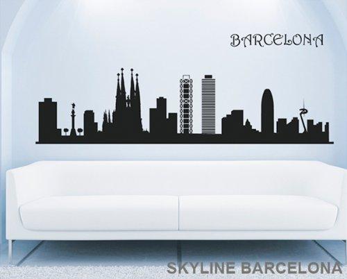 TOKPERSONAL Vinilo Decorativo : Skyline Barcelona 200 x 51 cm