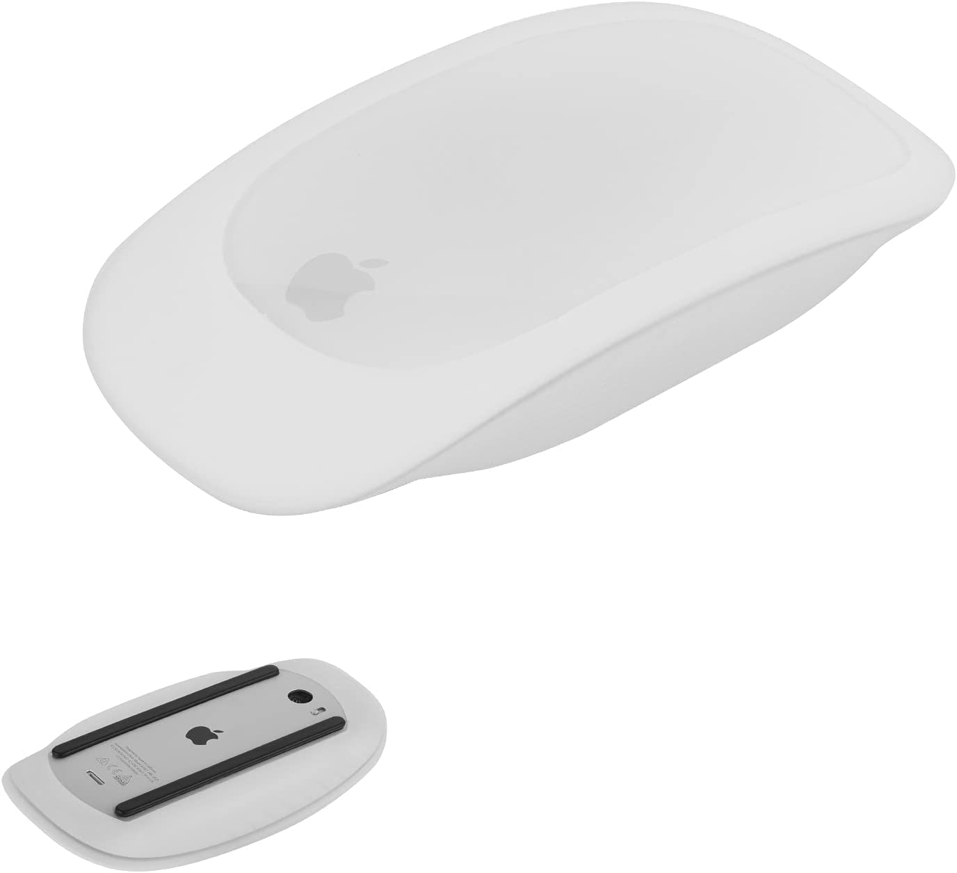 Silicone Case Cover Protective Skin for Apple Magic Mouse 1 & 2 Silicone Sleeve Compatible with Apple Magic Mouse iPad Mouse (White)