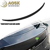 AOSK Tesla Model Y Spoiler OEM Style Wings Glossy Black for 2020-2021 Tesla Model Y Rear Trunk Spoiler Lip Tail Wing Rear Trunk Lid