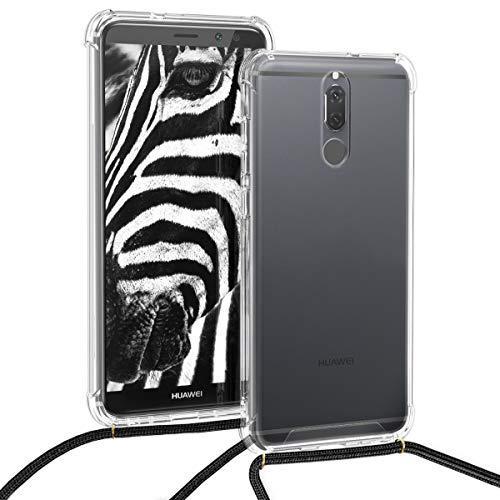 kwmobile Huawei Mate 10 Lite Hülle - mit Kordel zum Umhängen - Silikon Handy Schutzhülle für Huawei Mate 10 Lite - Transparent - 4