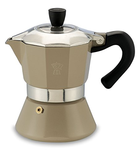 Pezzetti Espressokocher, Moccakocher, Kaffeekocher für 3 Tassen, Farbauswahl … (Grau)