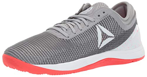 Reebok Women's CROSSFIT Nano 8.0 Flexweave Cross Trainer, Shark/Tin Grey/Ash Grey/Neon Red/White, 5.5 M US