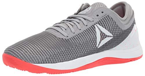 Reebok Women's Crossfit Nano 8.0 Flexweave Workout Joggers, shark/tin grey/ash grey/neon red/white, 10 M US